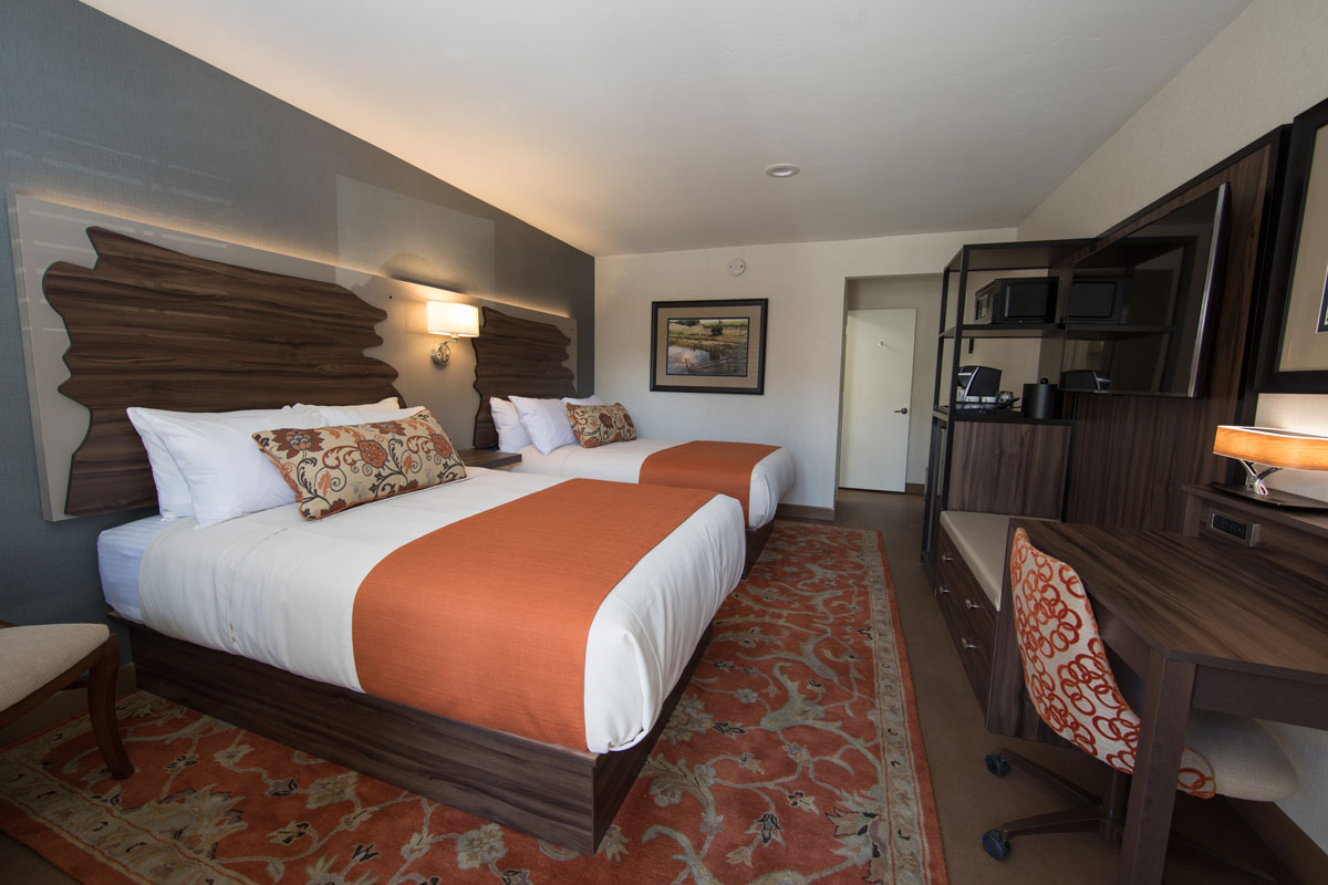 Image to show the room type with two Double Beds