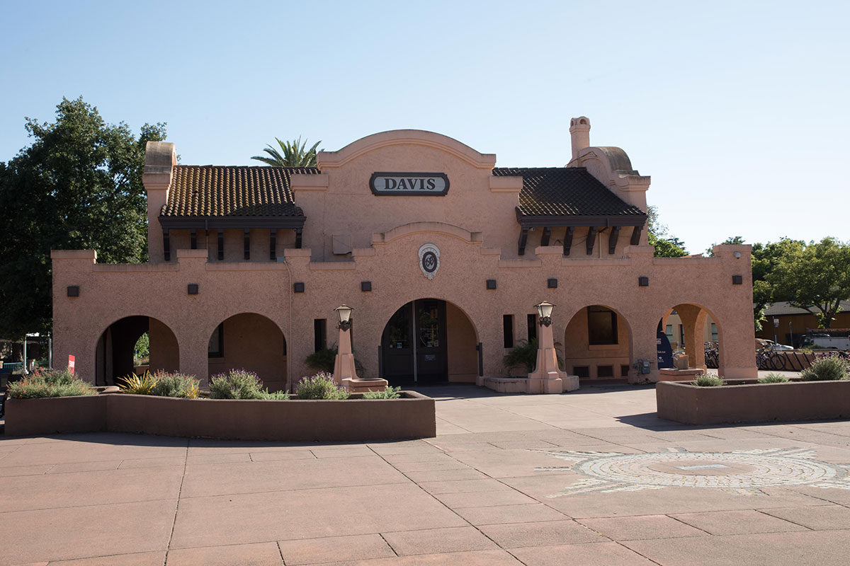Image shows Amtrak Station